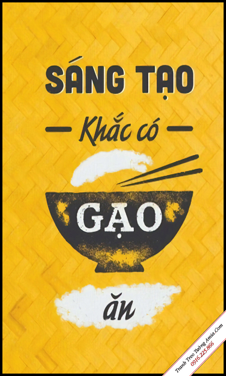 tranh slogan van phong sang tao khac co gao an