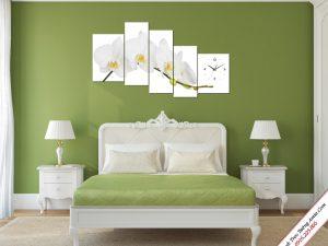 tranh treo phong ngu hoa lan trang ghep bo