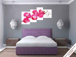 tranh treo tuong phong ngu hoa phong lan hong ghep bo