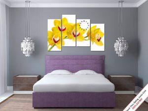 tranh treo phong ngu nhanh hoa lan vang phu quy