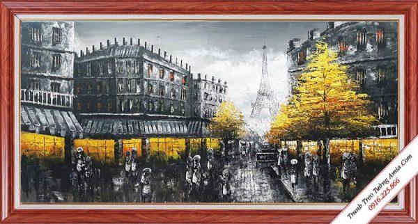 tranh son dau ve thanh pho paris phong canh dep