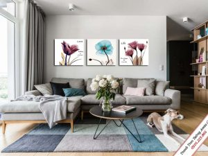 tranh treo phong khach hoa xray hien dai