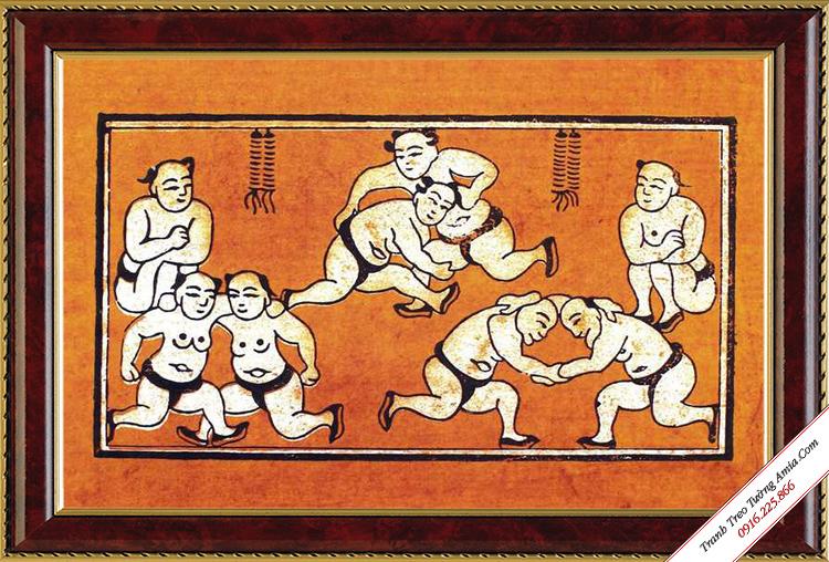 tranh treo tuong dau vat dong ho