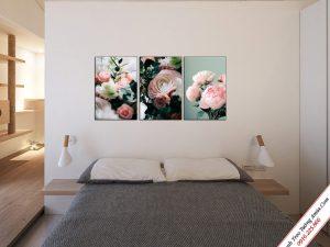 tranh treo tuong phong ngu dep ghep bo hoa mau don