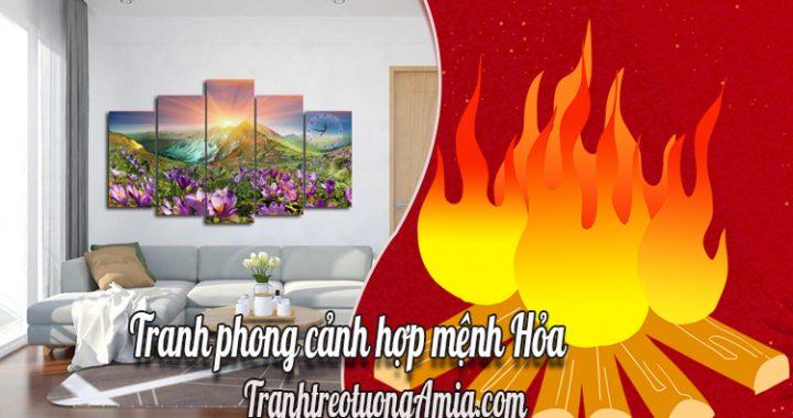tranh phong canh hop menh hoa