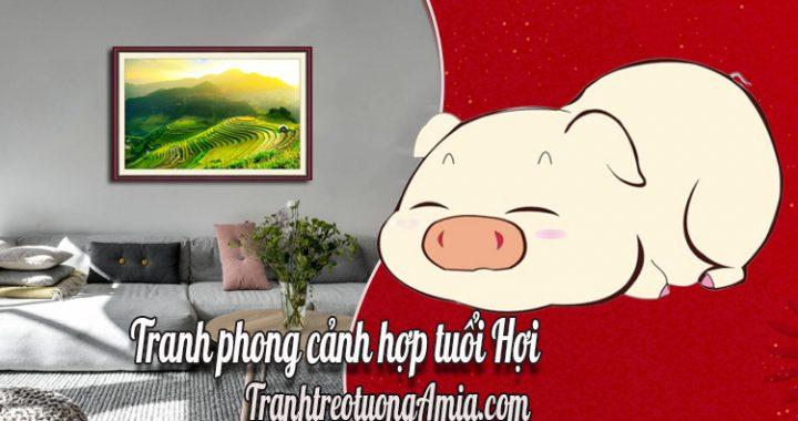 tranh phong canh hop tuoi hoi