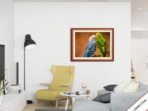 tranh doi vet xanh treo tuong cuc dep