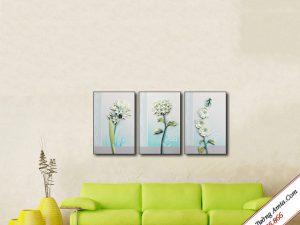 tranh hoa la treo tuong in canvas 3d tuyet dep