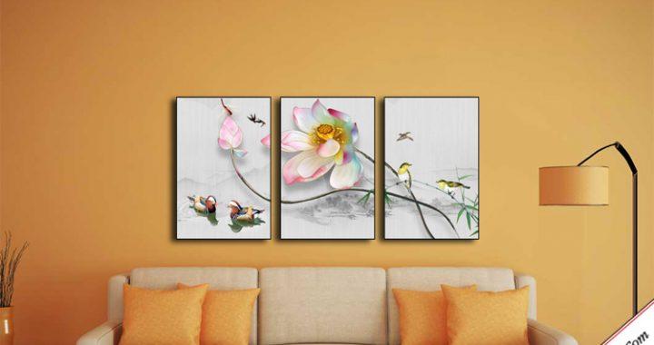 tranh in canvas hoa sen treo tuong dep