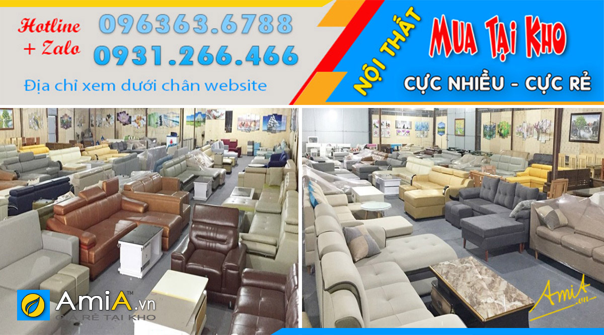 Cửa hàng trưng bày đa dạng các mẫu sofa góc chữ L đẹp hiện đại