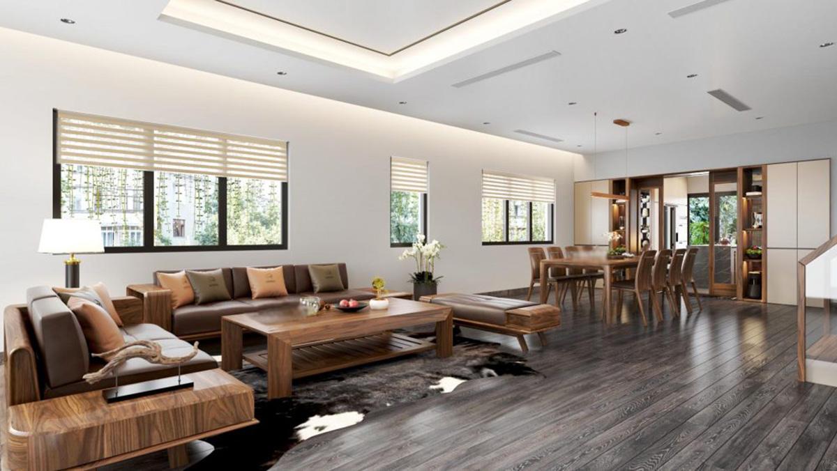 Sofa gỗ cho phòng khách sang trọng, hiện đại
