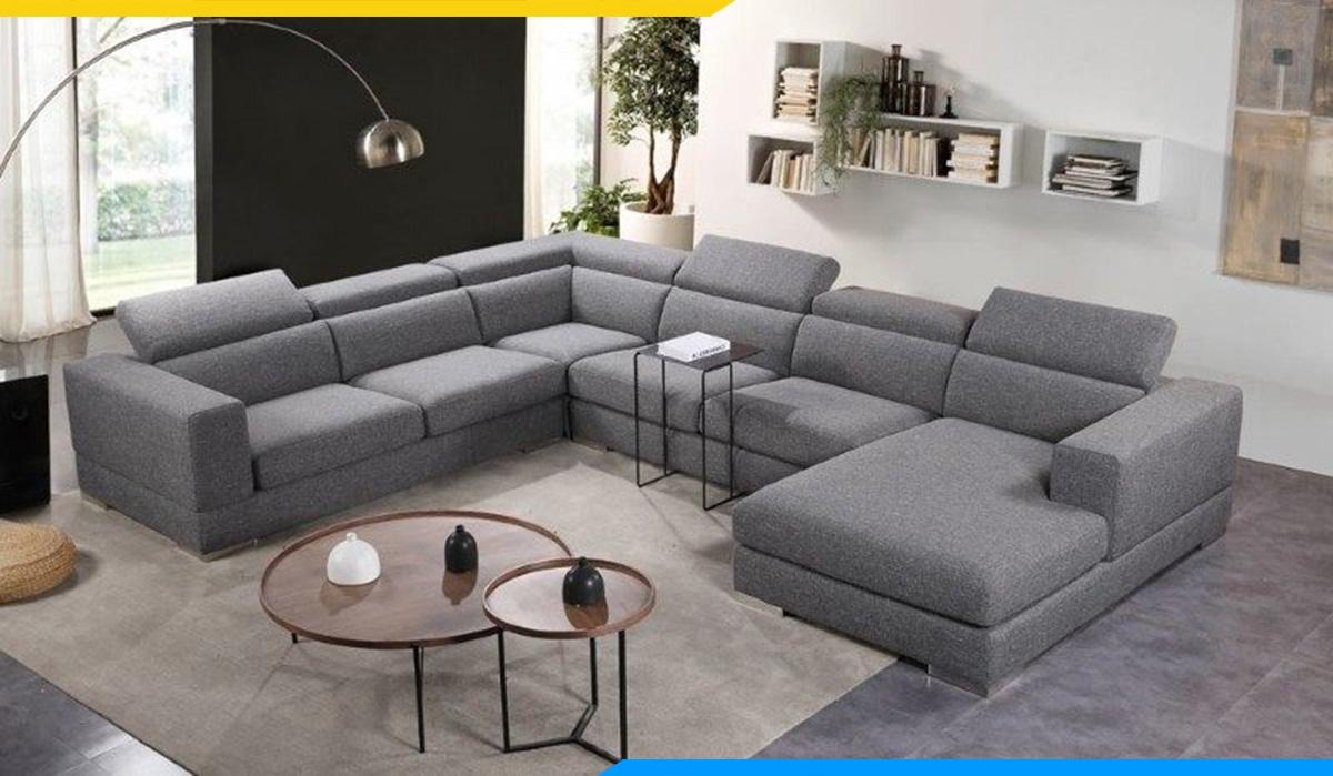 Bộ ghế sofa góc chữ U hiện đại