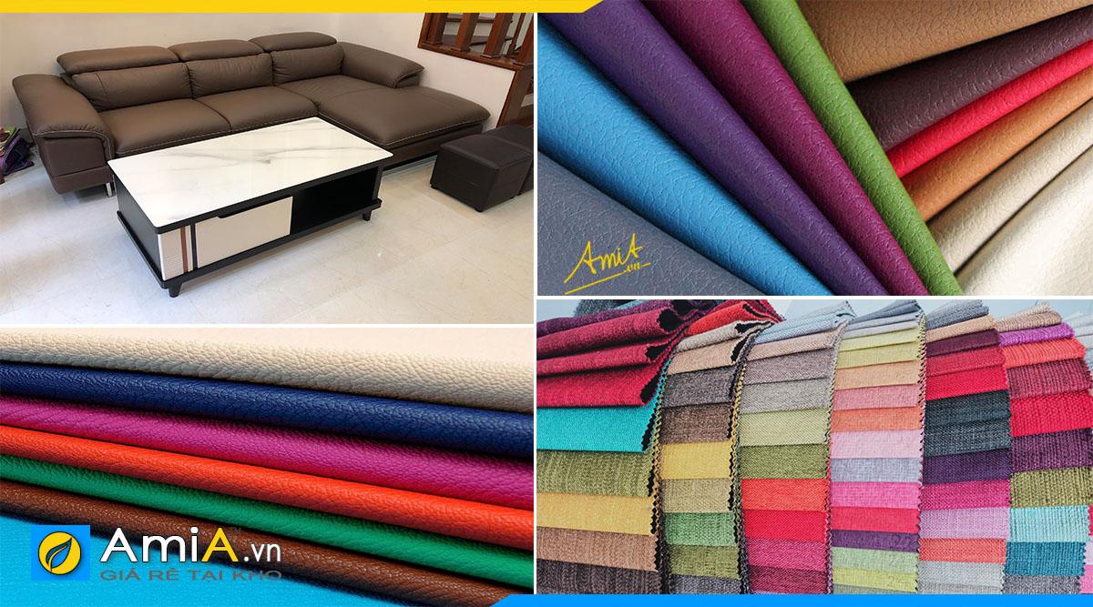 Bạn tha hồ lựa chọn chất liệu và màu sắc để bọc mới cho bộ sofa