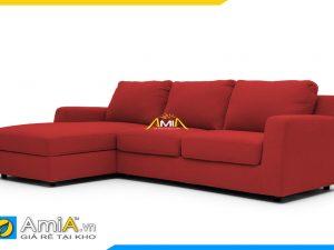Mẫu ghế sofa góc vải nỉ màu đỏ